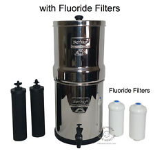 Big Berkey Water Purifier w/2 Black & 2 Fluoride Arsenic Filters