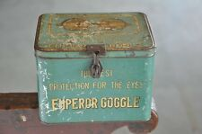 Vintage Emperor Goggle Ad Litho Tin Box , Japan