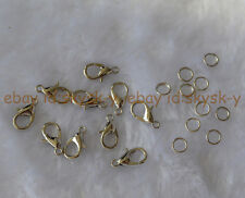 Wholesale 10pc 8-12mm Silver Lobster Clasp Crab Claw For necklace jewelry making