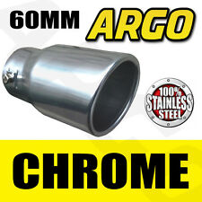 Chrome sortie d'échappement tail pipe trim end muffler finisher couverture pointe sport