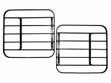 Land Rover OE Defender Up To 2002 Front Lamp Guards NEW Slatted Steel Hinged