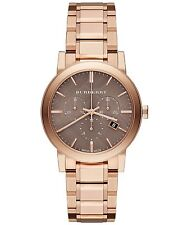 bu9754 Burberry Unisex Swiss Chronograph The City Rose Gold Ion-Plated Stainless