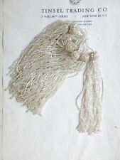 Vintage/Antique Art Deco Victorian Glass Beaded Tassel Fringe 5""
