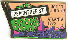 1996 ATLANTA OLYMPIC COCA COLA DAY PIN 11 FOR BOTTLE PUZZLE SET PEACHTREE ST. ##