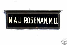 ANTIQUE EARLY DOCTOR Maj. Roseman MD SIGN REVERSE GLASS SAND PAINT GOLD COPPER!