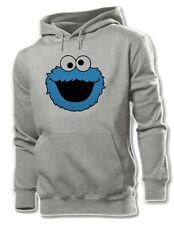 Unisex Mens Boys Womens Cute Funny Blue COOKIE MONSTER Sweatshirt Hoodie Tops