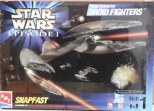 1999 STAR WARS Ep1 Trade Fed Droid Fighters Model Kit-Open-FREE S&H (SWMO-30118)