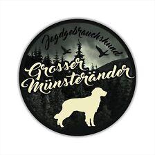 A_JGH Auto Aufkleber GROSSER MÜNSTERLÄNDER Jagdhund Hund Hunde SIVIWONDER