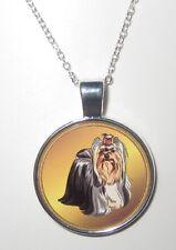 Yorkshire Terrier HUND DOG  Halskette Necklace -EM1 - NEU!