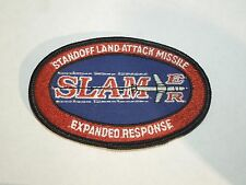 Vintage SLAMER Standoff Land Attack Missile Expanded Response Iron On Patch