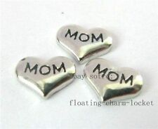 10pcs  mom heart Floating charms For Glass memory Locket Free shipping fc163