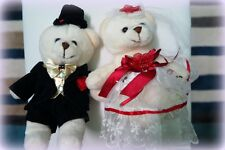 Bride and Groom Wedding Teddy Bear Decoration Soft Toy for Wedding Car