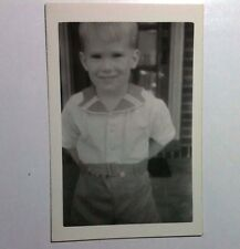 Vintage Black & White PHOTO Cutest Little Blonde Boy In The World All Dressed Up