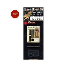 132504 HGW Seatbelts (LASER) - Mitsubishi A6M ZERO 1:32