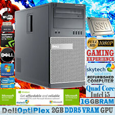 Ultra Fast DELL Gaming PC Quad Core i5 16GB SSD Cheap Desktop Computer GTX 750ti