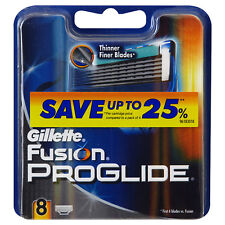 GILLETTE FUSION PROGLIDE RAZOR BLADES 8 - 100% GENUINE UK STOCK