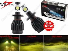 2Bulbs H4 LED Headlight Lamp Yellow CREE Chips 3000K Golden Eye High Power Hi/Lo