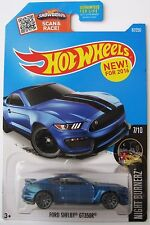 Hot Wheels FORD SHELBY GT350R -2016 Night Burnerz #7/10 Blue H-case mustang car