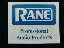 RANE PRO AUDIO PRODUCT DJ MIXER TURNTABLE DECAL STICKER CASE RACK BUMPER STICKER
