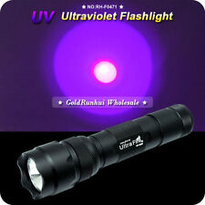 WF-502B UV Purple 5W LED FlashLight 18650 Tactical Torch Hunting Lamp 1 Mode