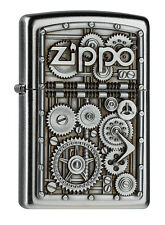 Zippo Gear Wheels Chrome satin, 2004497 Collection 2015