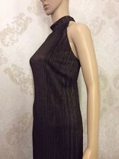 NEW M&S Ladies Skater Dress, Holster Neck Plus Size 16, Bronze Shinny Top