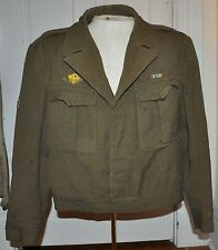 ORIGINAL WW2 US ARMY AIR CORP ENLISTED MANS WOOL IKE JACKET ~ LARGE SZ 44S