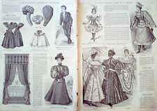 LA MODE ILLUSTREE-1896- 1-avec PATRONS-VOIR MODELES DETAILLES