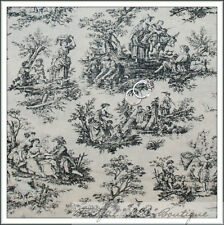 BonEful Fabric Cotton Quilt Cream Tan Black Flower Shabby Chic Girl Boy NR SCRAP