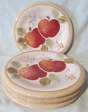 HD Designs Orchard Garden Apple Salad Plate set of 4