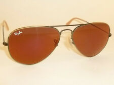 New RAY BAN Aviator Sunglasses Bronze Frame RB 3025 167/2K Red Mirror Lens  55mm