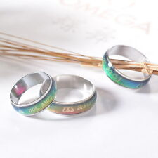 1PC change color rings temperature ring mood ring Size 6