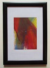 Arnulf Rainer ENGEL IM FEUERRAUSCH Kunstdruck im Holzrahmen 23,5x33,5 cm