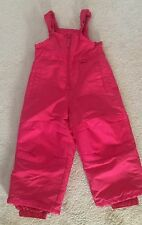 Toddler girls size 2T red pink Ski snow bib winter overall snow pants snowboard