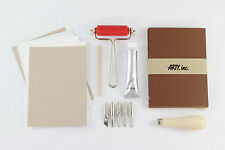 Lino Cut starter kit for printmaking, printing, prints & stamps ink 29 pieces