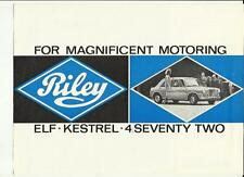 BMC RILEY ELF, KESTREL AND 4/SEVENTY TWO SALES BROCHURE SEPTEMBER 1966 FOR 1967