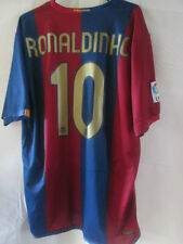Barcelona Ronaldinho 10 2006-2007 Home Football Shirt Size XL /34105