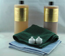 LEATHERIQUE LEATHER RESTORATION REJUVENATOR OIL PRESTINE CLEAN 32OZ KIT TOWELS