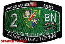 US ARMY RANGERS PATCH 2 RANGER BATTALION FT LEWIS 75TH RANGER REGIMENT PIN UP