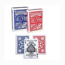 12 mazzi Carte Tally-Ho Fan Back (6 Blu-6 Rosso)