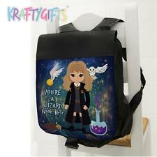 Personalised Harry Potter Hermione Girls Black Backpack School Sports Bag ET06