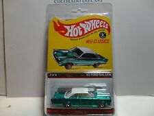 Hot Wheels Red Line Club Neo Classics Green '65 Ford Galaxie