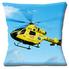 """YORKSHIRE AIR AMBULANCE HELICOPTER 10% CHARITY DONATION 16"""" Pillow Cushion Cover"""