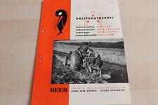 144397) Rabewerk Beetpflug Kultivator Egge Rübenroder Prospekt 03/1952