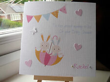 Cute Handmade Personalised Baby Shower Card for the Mummy To Be