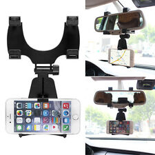Universal Car Rearview Mirror Mount Stand Holder Auto Cradle For Smart Phone GPS