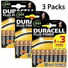 15 + 9 GRATIS AAA Duracell Plus Power Batteries Batteria Alcalina 1.5v lr03 mn2400