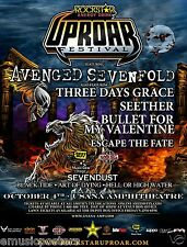 AVENGED SEVENFOLD /3 DAYS GRACE /SEETHER 2011 SALT LAKE CITY CONCERT TOUR POSTER