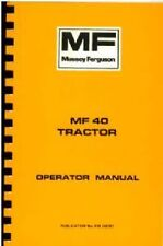 MASSEY FERGUSON TRACTOR 40 & 2203-5 OPERATORS MANUAL - MF40 & MF2203 MF