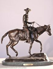 """Will Rogers"" Collectible Real Bronze Sculpture Statue By C. M. Russell - Small"